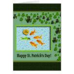 El día de St Patrick, humor del Goldfish Felicitación