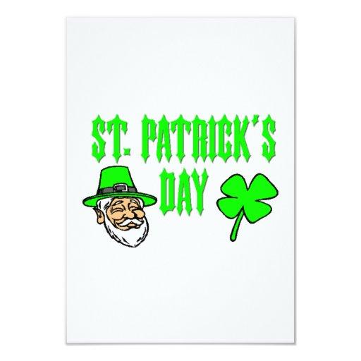 """El día de St Patrick Invitación 3.5"""" X 5"""""""