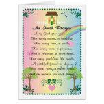 El día de St Patrick irlandés del rezo Felicitación