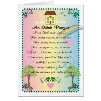 El día de St Patrick irlandés del rezo Tarjeta De Felicitación