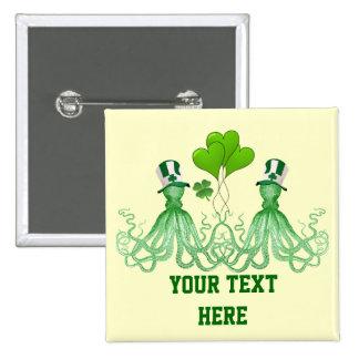 El día de St Patrick irlandés divertido de los pul Pins