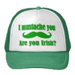 El día de St Patrick irlandés divertido del bigote Gorros Bordados