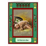 El día de St Patrick, litera de cerdos Felicitación