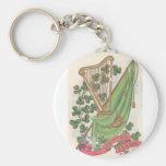 El día de St Patrick Llavero Personalizado
