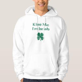El día de St Patrick me besa Jersey Encapuchado