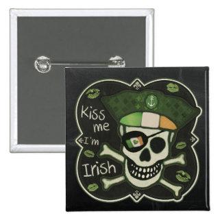 El día de St Patrick me besa que soy botón Pins