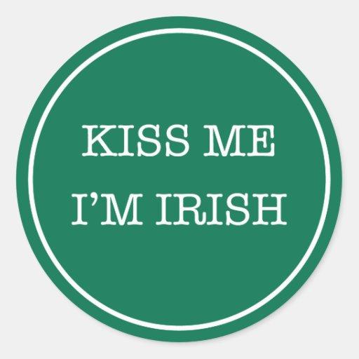 El día de St Patrick me besa que soy pegatina