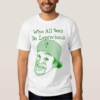 El día de St Patrick: Móvil Alabama del Leprechaun Camisas