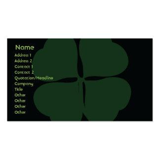 El día de St Patrick - negocio Tarjetas De Visita