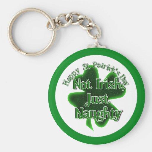 El día de St Patrick - no irlandés, apenas travies Llaveros Personalizados