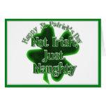 El día de St Patrick - no irlandés, apenas travies Felicitación