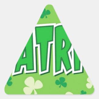 El día de St Patrick Pegatina De Triangulo Personalizadas