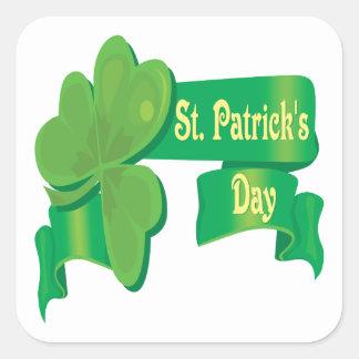 El día de St Patrick Colcomanias Cuadradass