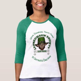El día de St Patrick personalizado leprechaun Playera