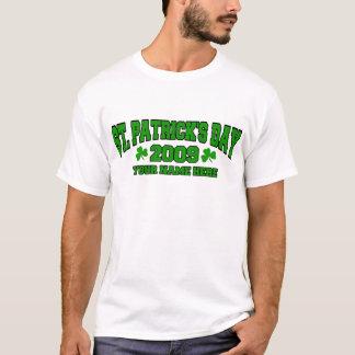 El día de St Patrick personalizado Playera