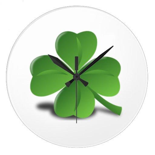 El día de St Patrick Reloj De Pared