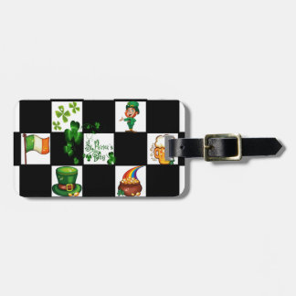 El día de St Patrick retro único Etiquetas Para Maletas