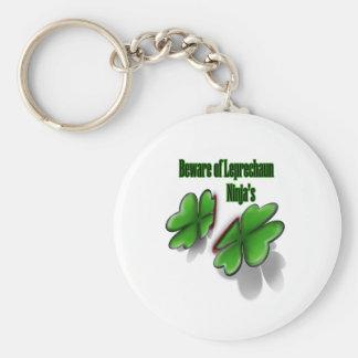 El día de St Patrick, se guarda de los ninja del l Llaveros Personalizados