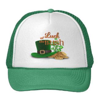 """El día de St Patrick - """"suerte del irlandés """" Gorro De Camionero"""