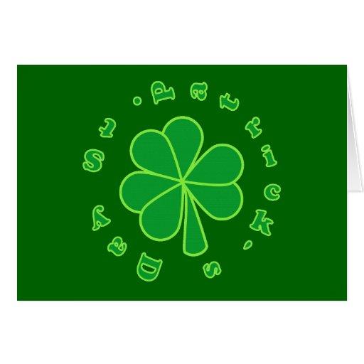 El día de St Patrick Tarjeta De Felicitación