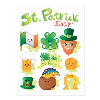 El día de St Patrick Postales