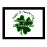 El día de St Patrick - todos irlandés Postal