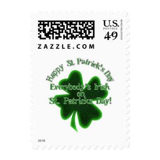 El día de St Patrick - todos irlandés Sellos