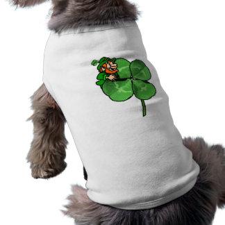 ¡El día de St Patrick - van los irlandeses! Prenda Mascota