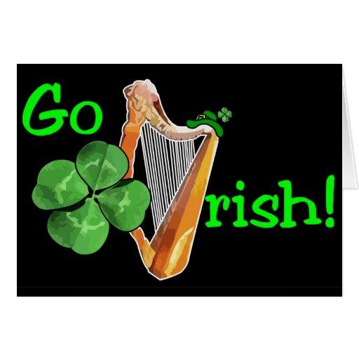 ¡El día de St Patrick - van los irlandeses! Tarjeta De Felicitación