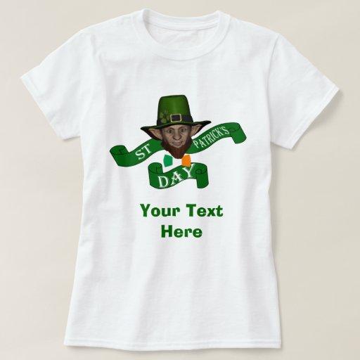 El día de St Patrick verde del leprechaun Polera