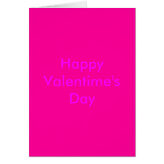 El día de Valentime feliz Tarjeta De Felicitación