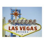 EL Día de Vegas Entra Durante Tarjeta Postal