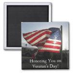 ¡El día de veterano feliz! Imán Para Frigorifico
