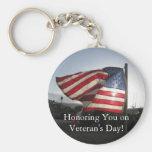¡El día de veterano feliz! Llaveros