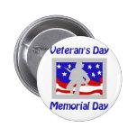 El día de veterano/Memorial Day Pin