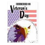 El día de veterano tarjetas postales