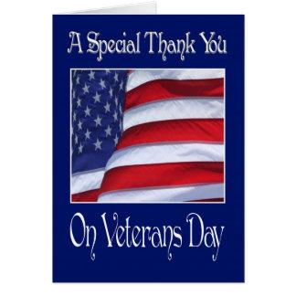 El día de veteranos feliz le agradece cardar felicitaciones