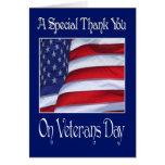 El día de veteranos feliz le agradece cardar tarjeta de felicitación