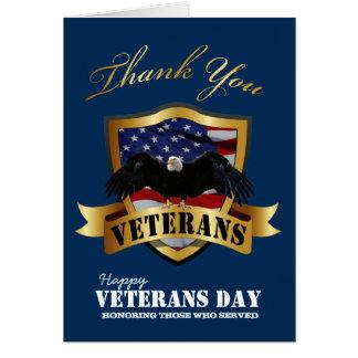 El día de veteranos feliz le agradece las tarjetas