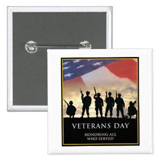 El día de veteranos honra el botón del día de