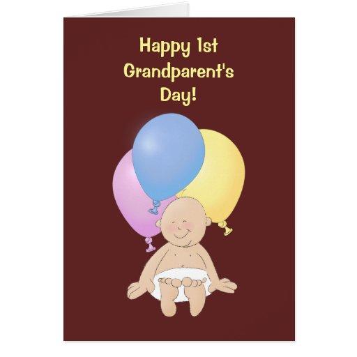 ¡El día del 1r abuelo feliz! Tarjeta De Felicitación