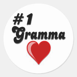 El día del abuelo de #1 Gramma Pegatinas Redondas