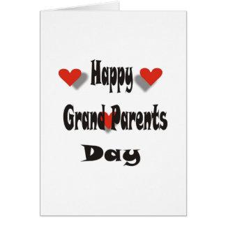 El día del abuelo feliz tarjeta de felicitación