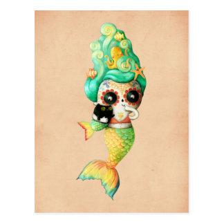 El día del chica muerto de la sirena tarjeta postal