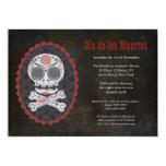 """El día del cráneo del azúcar de Halloween del Invitación 5"""" X 7"""""""
