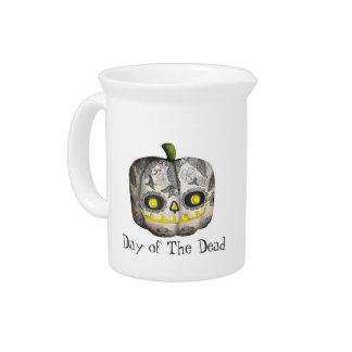 El día del cráneo muerto del azúcar de la calabaza jarras de beber