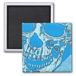 El día del cráneo muerto diseñó el pañuelo brillan iman para frigorífico