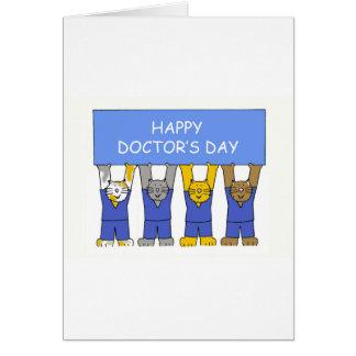 El día del doctor feliz tarjeta de felicitación