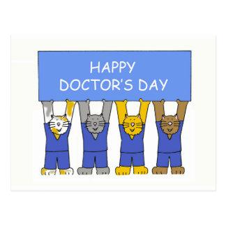 El día del doctor feliz tarjeta postal