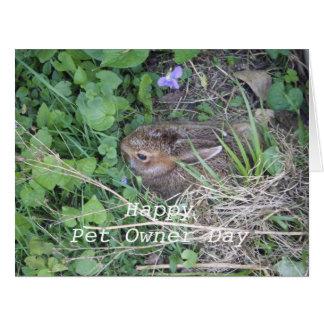El día del dueño de Conejo-Celebración del mascota Tarjeta De Felicitación Grande